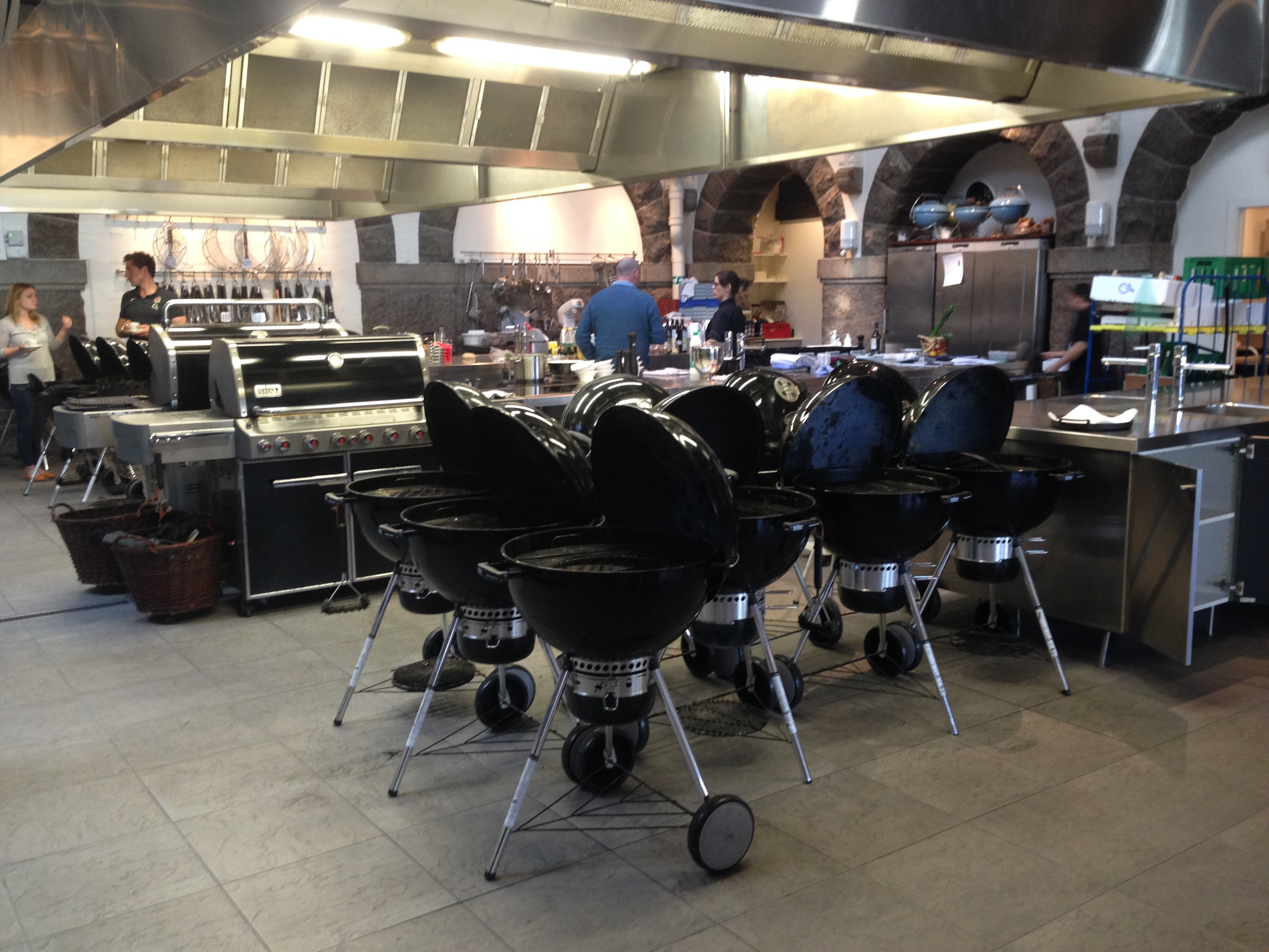 Emsworth cookery school blog for Weber grill danemark